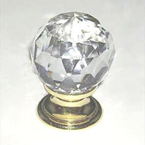 Berenson, 7041-907-C, Cabinet Knob, Europa, Faceted Crystal Ball & Gold