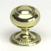 Berenson, 9110-303-P, Cabinet Knob & Back Plate, Canterbury, Brass