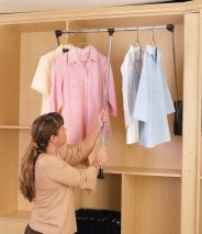 Pull-Down Closet Rod 35-48 in Wide
