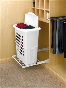 "Pull-Out Hamper with Lid 14"" Deep"