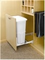 Rev-A-Shelf, HPRV-1925DM S, Door Mount Hamper with Lid, White