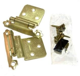 Hawthorne & Reid, HR10038PB02P, Cabinet Hinge, 3/8 inch Inset, Polished Brass