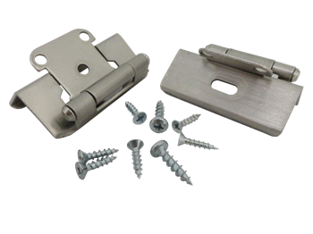brushed nickel cabinet hinges. hawthorne \u0026amp; reid, hr1012fsn2hp, cabinet hinge, 1/2 inch overlay, brushed nickel hinges h