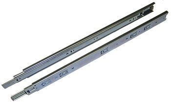 24 inch, IS, 100 lb. Full Extension Drawer Slide, Zinc