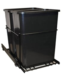 Black Pull Out Trash Cans & Waste Containers