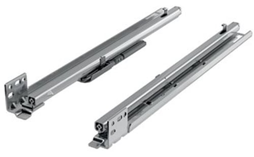 "9"" Quadro FAQ Undermount Drawer Slides, Soft Close, 7/8 Extension"