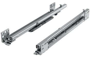 "18"" Quadro FAQ Frameless Undermount Drawer Slides, Soft Close, 7/8 Extension"