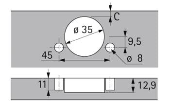 Sensys Soft Close Hinge Inset Version Tb53 110 9071228