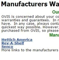 Manufacturers Warranties