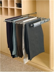 24 inch wide Pull-Out Pant Rack, Chrome