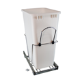 Rev-A-Shelf, RV-12KD-50, Pull-Out 50 qt. Trash Can, Chrome/White