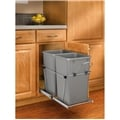 Rev-A-Shelf, RV-15KD-17CS, Pull-Out, 2-27qt. Trash Can, Chrome/Silver