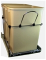 Pull-Out Trash Can, Chrome/Almond