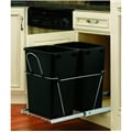 Rev-A-Shelf, RV-18KD-18CS, Pull-Out, 2-35qt. Trash Cans, Chrome/Black