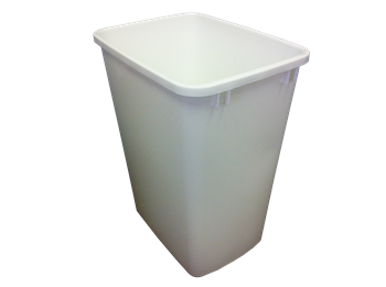 Rev-A-Shelf, RV-35-52, Replacement Trash Can, 35 Quart, White