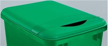 Rev-A-Shelf, RV-50-LID-G-1, 50 Qt. Trash Can Lid, Recycle Green