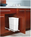 Single 20 Qt. Trash Can Unit/Adj Frame