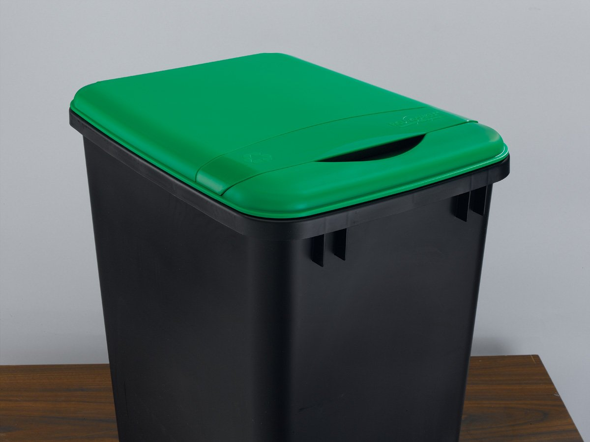 Rev-A-Shelf, RV-35-LID-G-1, 35 Qt. Trash Can Lid, Recycle Green