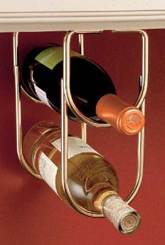 Rev-A-Shelf, 3250BR, Double Wine Bottle Rack Brass Plate