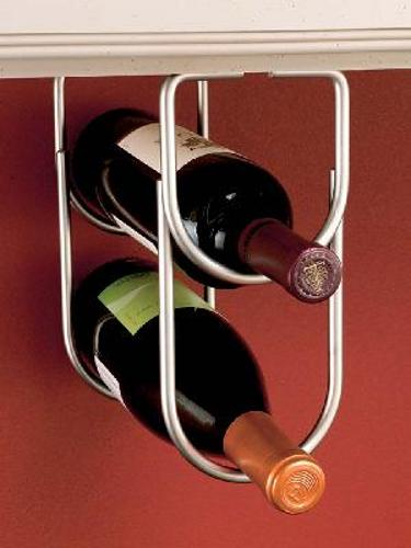 Rev-A-Shelf, 3250SN, Double Wine Bottle Rack Satin Nickel Plate