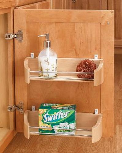 Rev-A-Shelf, 4231-20-52, 20in Wood Door Storage Tray w/Screw In Clips