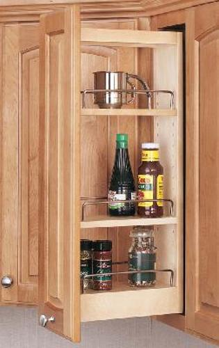 "Rev-A-Shelf, 448-WC-05C, Wood Wall Cabinet Pull-Out, 5"" Wide"