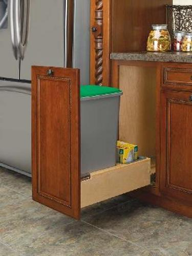 Rev-A-Shelf, 4WCBM-1550DM-1, Rev-A-Motion Single 50 Qt  Trash Can