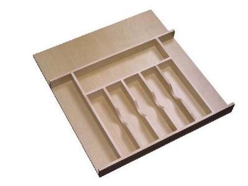 Rev-A-Shelf, 4WCT-3SH, 20-5/8 inch Wood Cutlery Tray-Shallow