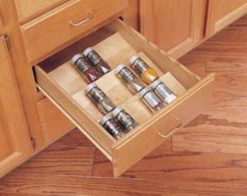 "Rev-A-Shelf, 4SDI-24, 24"" Wooden Spice Drawer Insert"