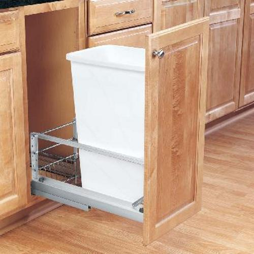 Rev-A-Shelf, 5349-1550DM-1, 50 Quart Pull-Out Trash Can,Polymer
