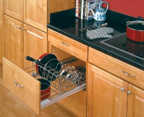 Rev-A-Shelf, 5389-21CR, 24 Inch Pull-Out Cookware Organizer Chrome