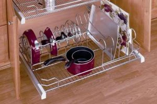 36 Inch Pull Out Cookware Organizer Chrome 5389 33cr