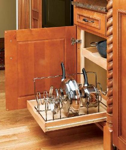Rev-A-Shelf, 5389-CR, 24 Inch Drop-In  Cookware Organizer Chrome