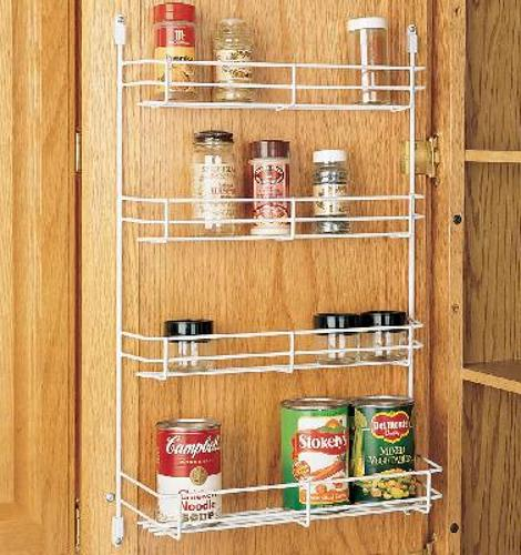Rev-A-Shelf, 565-8-52, 7-7/8 Inch Door Mount Spice Rack, White