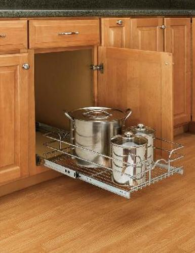 Rev-A-Shelf, 5WB1-1222-CR, 12 inch Pull-Out Chrome Wire Shelf