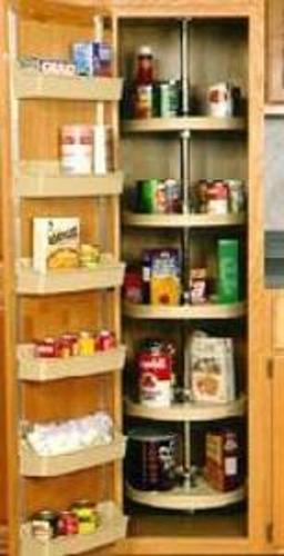 Rev-A-Shelf, 6065-16-11-52, 16 Inch Full Circle Pantry 5 Shelf Set, White