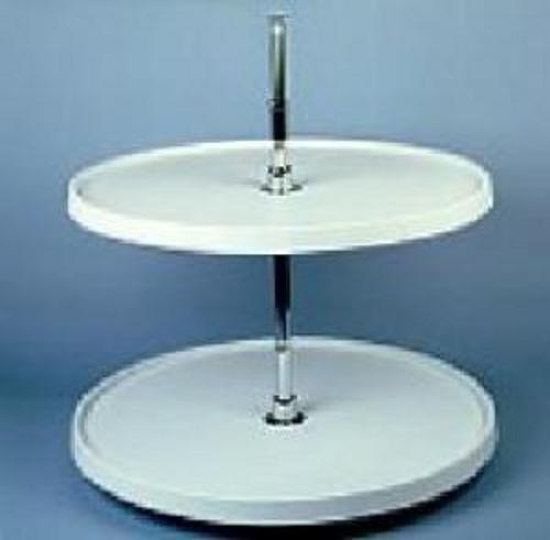 Rev-A-Shelf, 6012-24-11-52, 24 Inch Full Circle Lazy Susan, 2-Shelf,  White