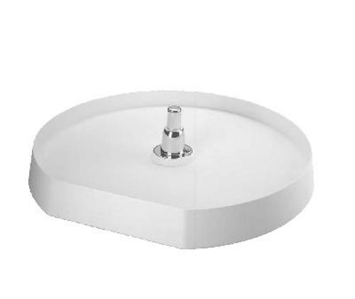 Rev-A-Shelf, 6221-22-11-52, 22 Inch, D-Shape Lazy Susan, 1-Shelf, White