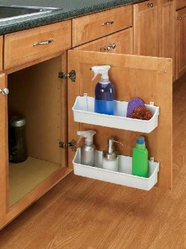 Rev-A-Shelf, 6232-08-15-52, 8 Inch Door Storage Tray, 2 Shelf-Set, Almond