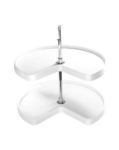 Rev-A-Shelf, 6472-24-11-52, 24 Inch  Diameter Kidney Shelf Set, White (610mm)