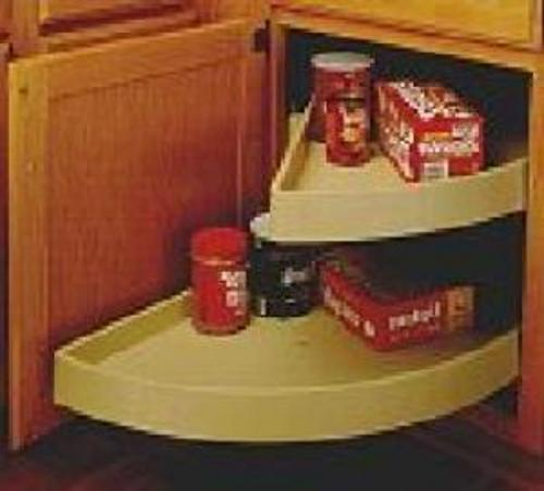 Rev-A-Shelf, 6882-31-15-570, Half-Moon Shelf Set, 2 Shelf Pivot & Slide, Almond