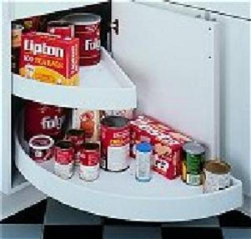 Rev-A-Shelf, 6882-31-11-570, Half-Moon Shelf Set, 2 Shelf Pivot & Slide, White