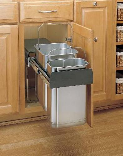 Rev-A-Shelf stainless steel pull-out trash cans