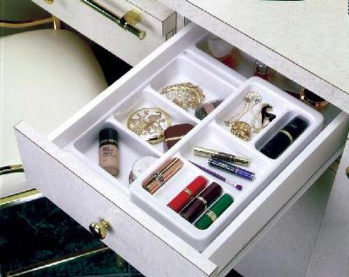 Rev-A-Shelf, COSK-18, Cosmetic Organizer Plus Kit, White