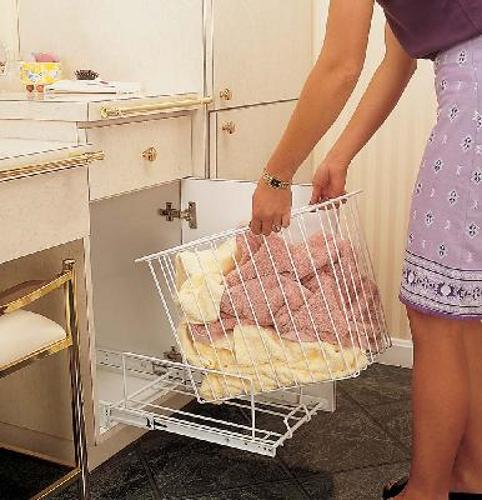 Pull out laundry hampers