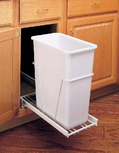 Rev-A-Shelf, RV-9PB S, 30 Quart Pull-Out Trash Can, White