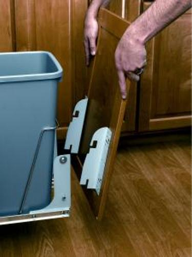 Waste container accessories: Lids, Door Mounts, Door Extenders