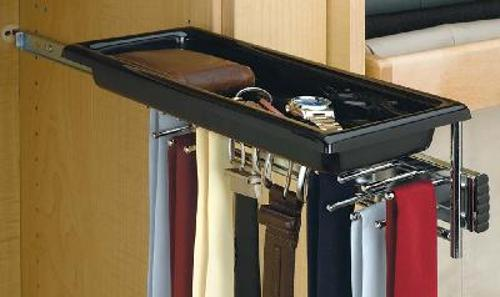 Rev-A-Shelf, TBC-14TCR, Pull-Out Tie/Belt Rack with Tray
