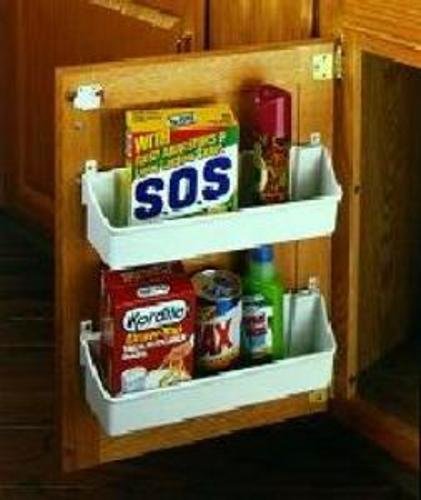Rev-A-Shelf, 6235-20-15-52, 19 3/4 Inch Door Storage Tray, 5 Shelf Set, Almond
