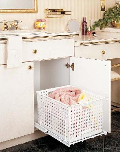 Rev-A-Shelf, HURV-1512 S, Pull-Out Polymer Hamper/Utility Basket